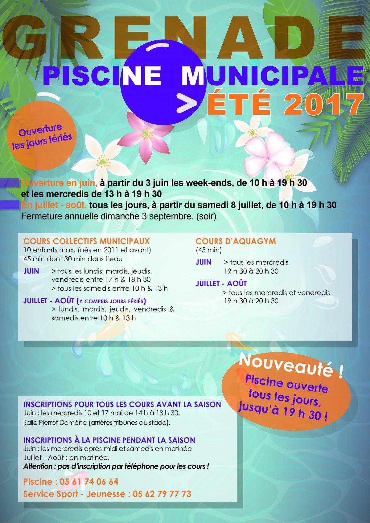 Piscine Municipale – Saison 2017