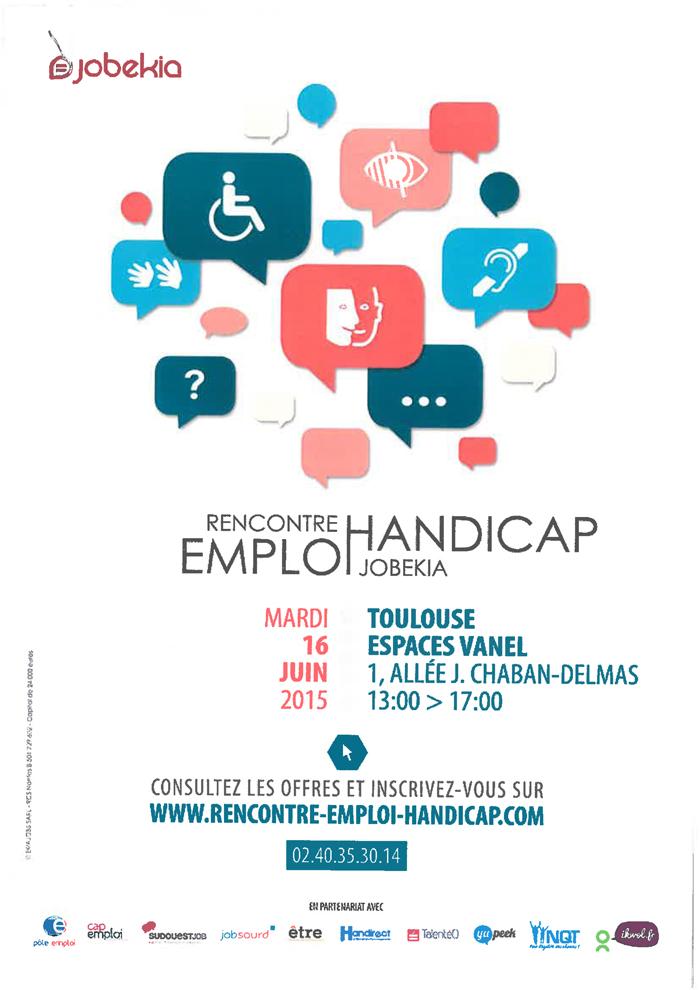 Rencontre emploi handicap toulouse 2016