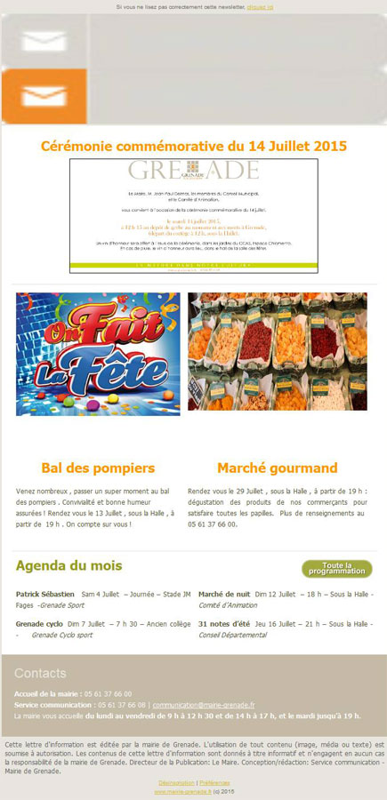 Newsletter juillet 2015 mairie de grenade - Office national de publication et de communication ...