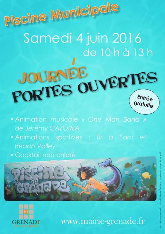 Journ e portes ouvertes de la piscine municipale mairie for Journee piscine
