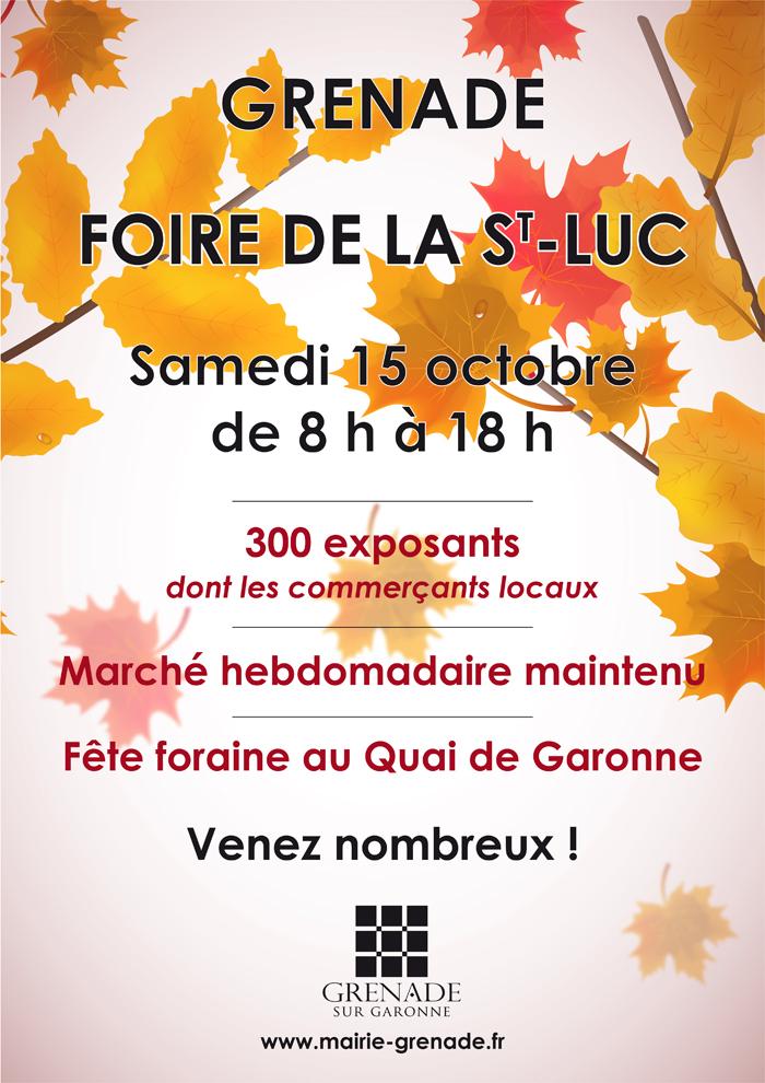 Saint Lucas Calendrier.Foire De La Saint Luc Mairie De Grenade