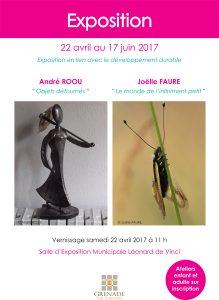 Exposition : André Roou / Joëlle Faure @ Salle d'Exposition Municipale | Grenade | Languedoc-Roussillon Midi-Pyrénées | France