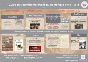 Cycle des Commémorations du centenaire 1914 - 1918 @ Salle d'Exposition Municipale   Grenade   Languedoc-Roussillon Midi-Pyrénées   France