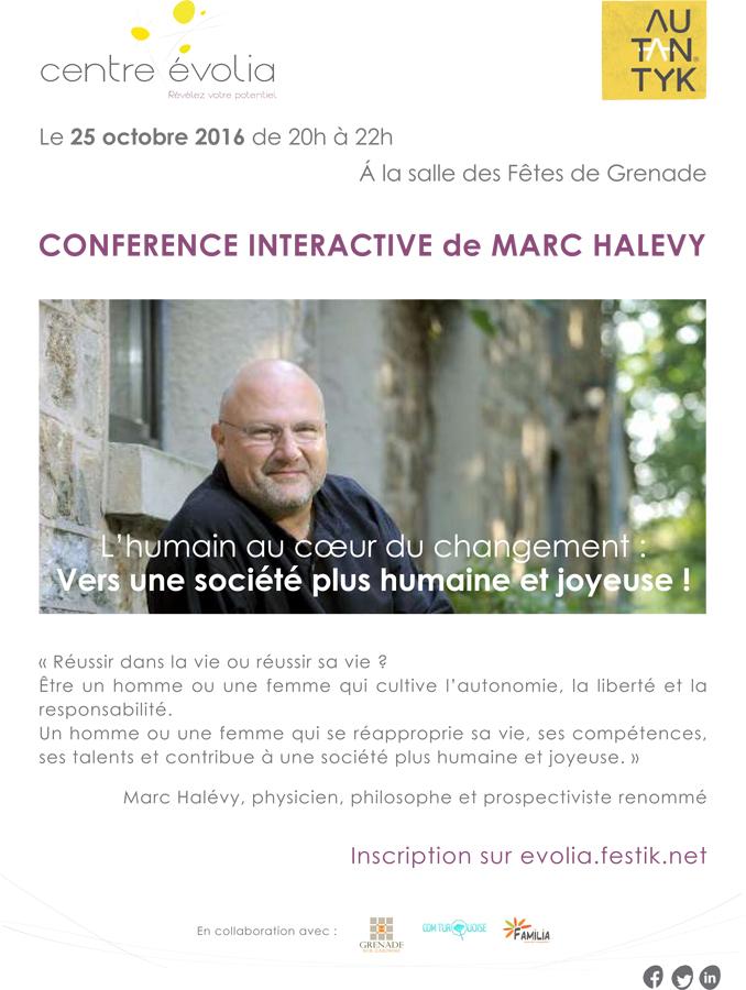 Conférence interactive de Marc HALEVY @ Salle des Fêtes