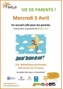 Café des parents à la bibliothèque de Grenade - Familia