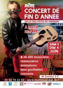 A2M : concert de fin d'année @ Salle des Fêtes