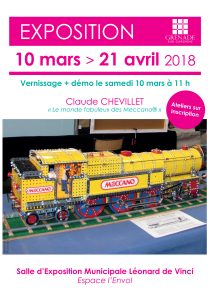 Exposition : Le monde fabuleux des Meccano @ Salle d'Expostion Municipale Léonard de Vinci | Grenade | Occitanie | France