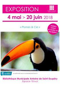 Exposition : Plume & Cie @ Bibliothèque Municipale Antoine de Saint-Exupéry | Grenade | Occitanie | France