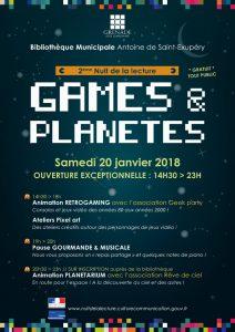 Nuit de la lecture @ Bibliothèque Municipale Antoine de Saint-Exupéry | Grenade | Occitanie | France