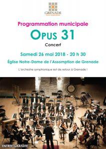 Concert : OPUS 31 @ Eglise Notre-Dame de l'Assomption | Grenade | Occitanie | France
