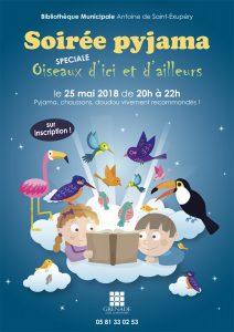 Soirée pyjama : Spéciale oiseaux @ Bibliothèque Municipale Antoine de Saint-Exupéry | Grenade | Occitanie | France
