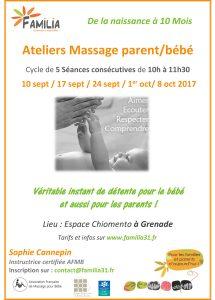 Atelier massage parent/bébé @ Espace Chiomento | Grenade | Occitanie | France