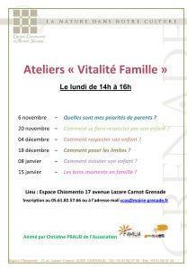 """Ateliers """"Vitalité Famille"""""""
