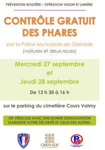 Contrôle gratuit des phares @ Parking du cimetière - Cours Valmy | Grenade | Occitanie | France