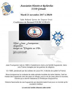 Conférence de Bernard FOURCAYRAN @ Salle Roland Garros