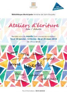 Ateliers d'écriture @ Bibliothèque Municipale Antoine de Saint-Exupéry | Grenade | Occitanie | France