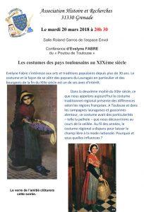 Conférence d'Evelyne FABRE du « Poutou de Toulouse »