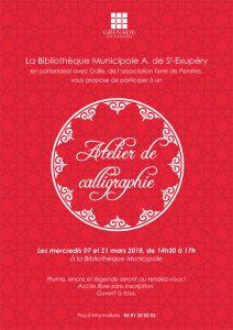 Atelier Calligraphie @ Bibliothèque Municipale Antoine de Saint-Exupéry | Grenade | Occitanie | France