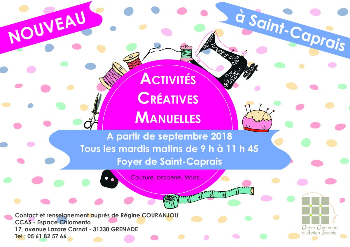 CCAS – Activités Créatives Manuelles