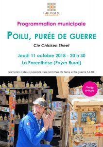 Spectacle : Poilu, purée de guerre @ Foyer Rural // La Parenthèse