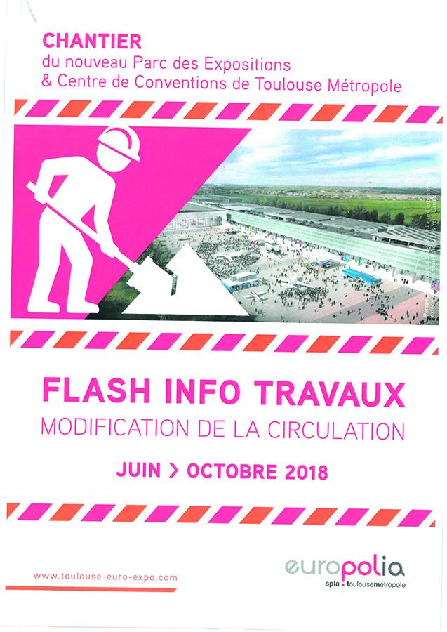 Travaux Parc des Expositions et Centre de Conventions de Toulouse Métropole