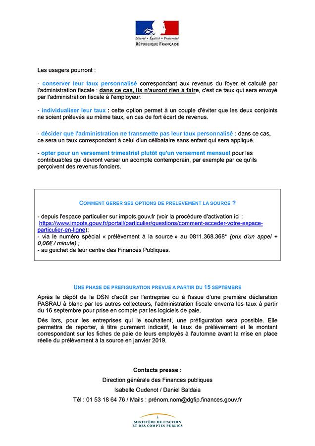 Prelevement Des Impots A La Source Mairie De Grenade