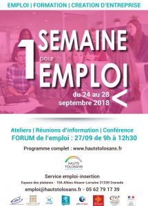 SEMAINE DE L'EMPLOI