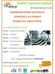Communication gestuelle associée à la parole @ Espace Chiomento