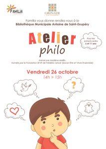 Atelier philo @ Bibliothèque Municipale Antoine de Saint-Exupéry | Grenade | Occitanie | France