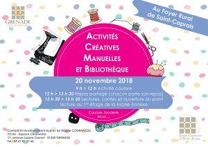Couture et lecture à Saint-Caprais @ Foyer Rural de Saint-Caprais | Grenade | Occitanie | France