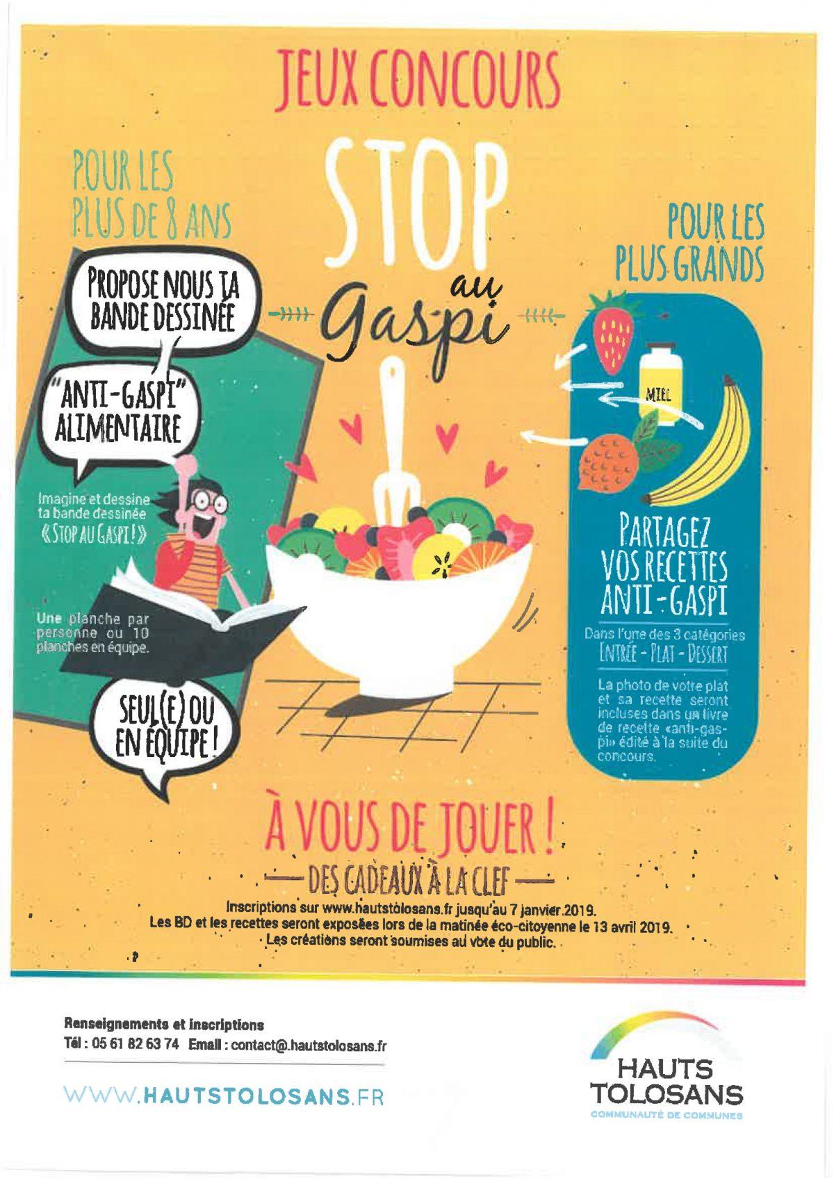 Jeux concours : stop au gaspi