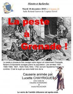 """la peste à Grenade"" @ Salle Roland Garros"