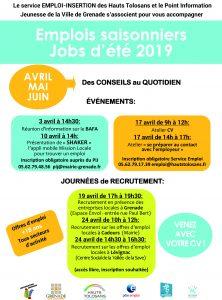 Emplois saisonniers - jobs d'été 2019