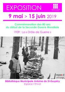 80 ans du début de la Seconde Guerre Mondiale : exposition @ Bibliothèque Antoine de Saint-Exupéry | Grenade | Occitanie | France