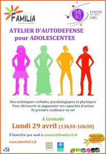 Atelier d'autodefense pour adolescentes @ Espace Chiomento