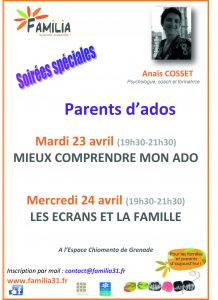 Parents d'ados @ Espace Chiomento