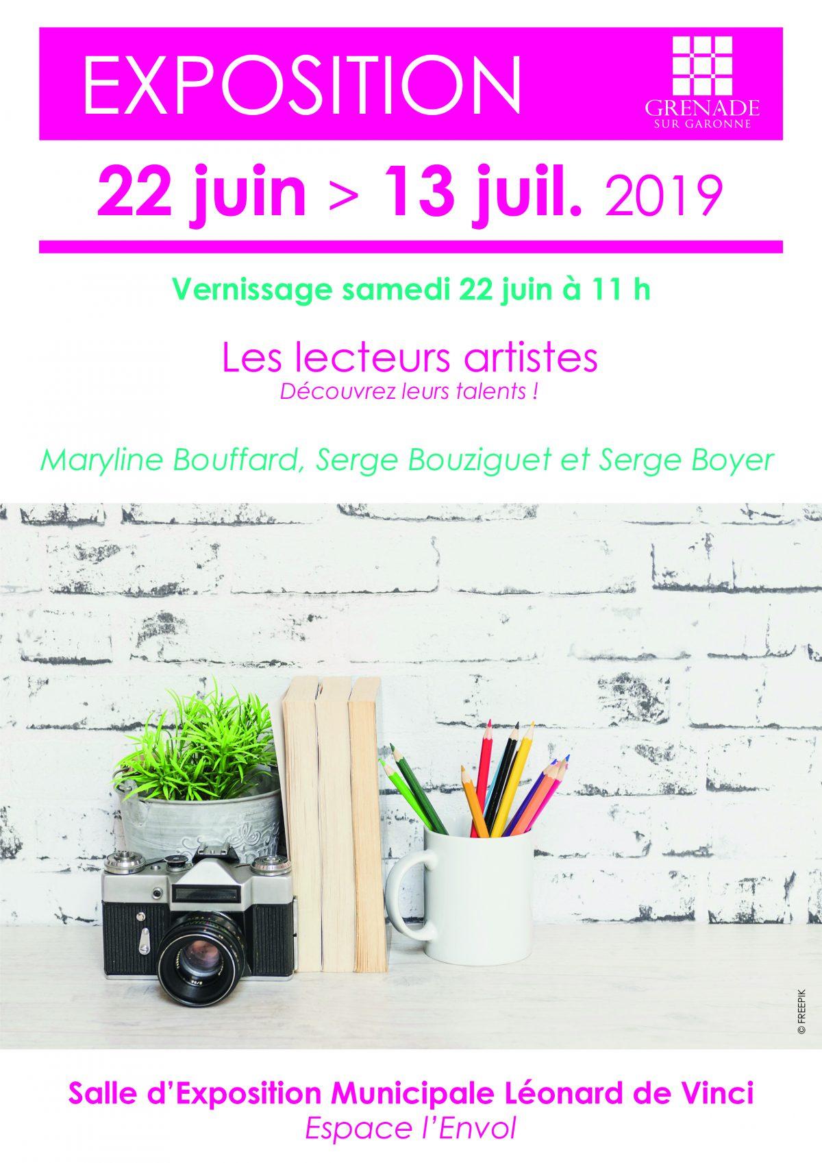 """Exposition """"Les Lecteurs Artistes"""""""