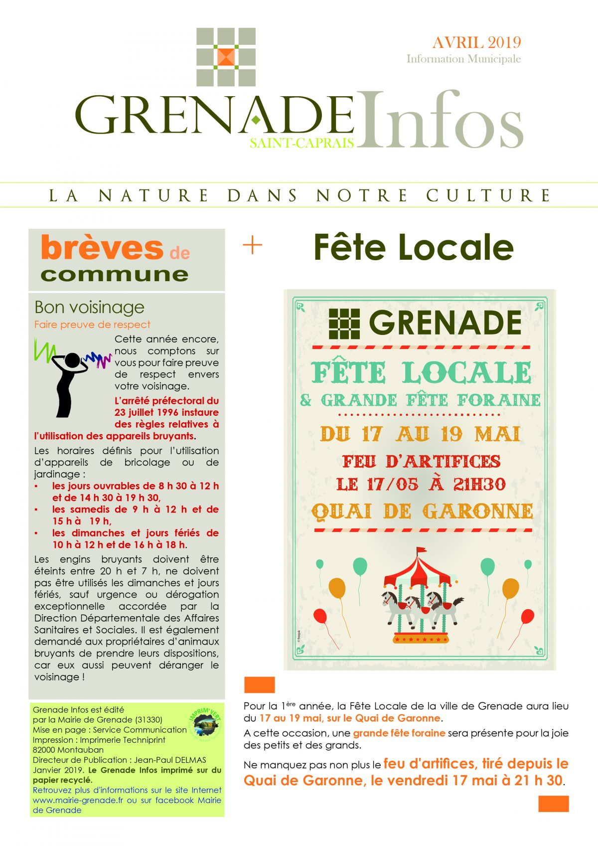 Grenade Infos Avril
