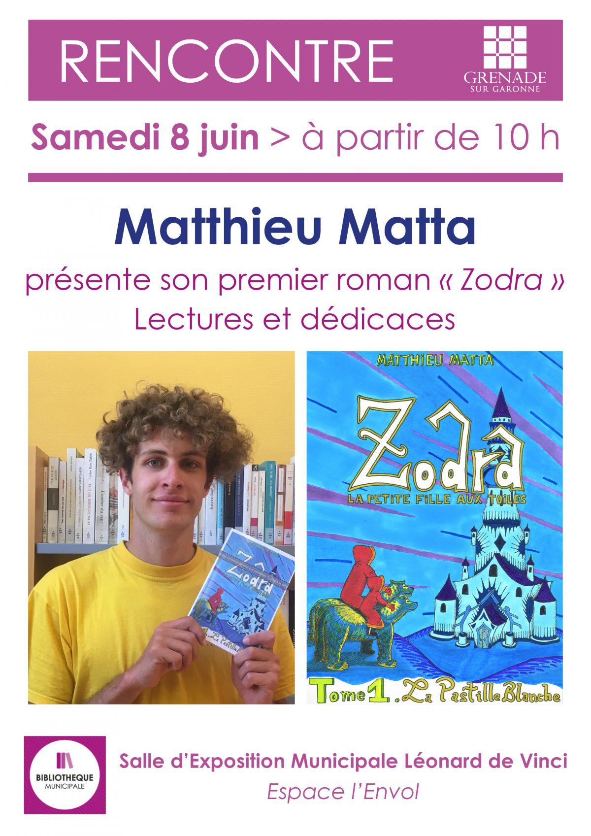 Rencontre avec Matthieu Matta, auteur grenadain