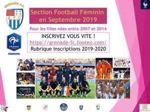 Création section football féminin