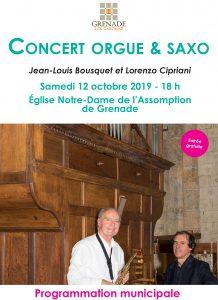 Concert Orgue-Saxo @ Eglise Notre-Dame de l'Assomption | Grenade | Occitanie | France