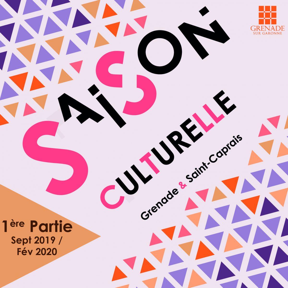 Plaquette culturelle saison 2019-2020 (partie 1)