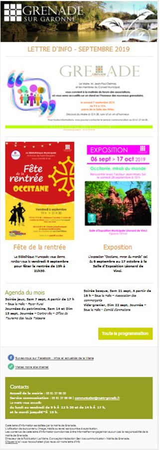 Newsletter septembre