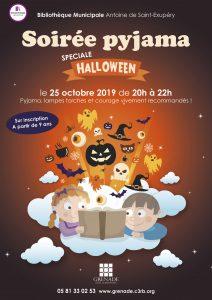 Soirée Pyjama spéciale Halloween à partir de 9 ans @ Bibliothèque Municipale Saint-Exupéry | Grenoble | Auvergne-Rhône-Alpes | France