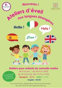 Atelier des langues @ Bibliothèque Municipale Antoine de Saint-Exupéry