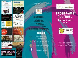 Programme culturel foyer rural