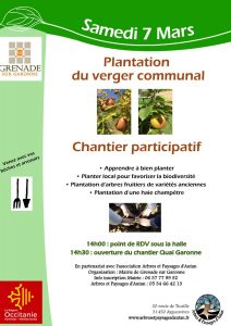 Chantier participatif plantation du verger communal