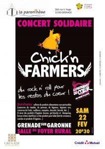 """Soirée Rock """"Les Chik'n Farmers"""" @ Foyer Rural"""