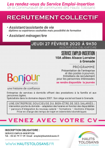 Recrutement collectif @ Service Emploi Insertion | Grenade | Occitanie | France