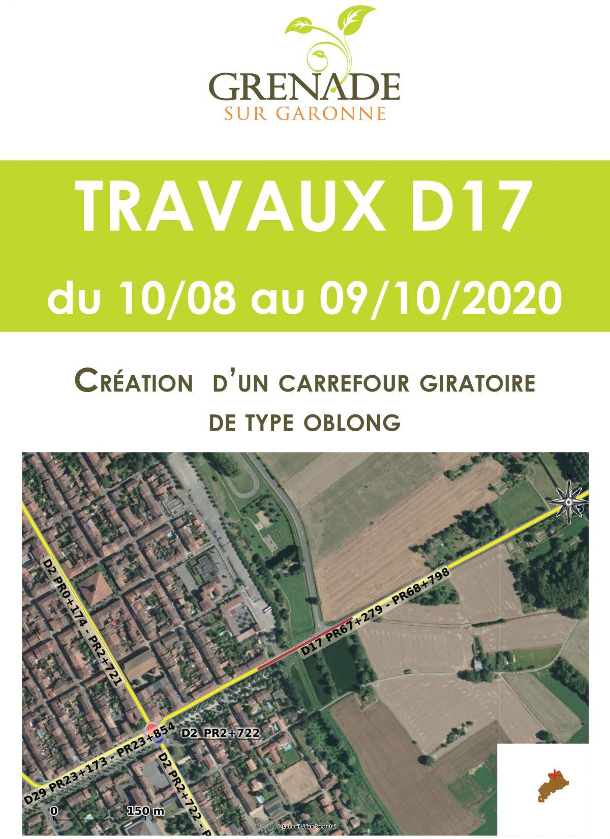 Communiqué du Conseil départemental de la Haute-Garonne/Mairie de Grenade